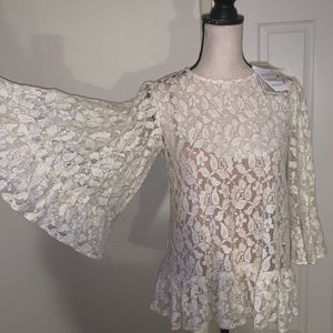NWT MICHAEL KORS LACE BLOUSE